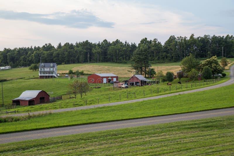 Fancy Gap, VA/USA - circa July 2015: Village in Appalachian mountains royalty free stock images