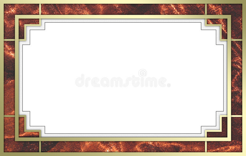 Fancy Gold and Red Picture Frame. A fancy gold picture frame with red inlays. Frame is sized for use on 11 x 17 paper with a quarter inch border all the way royalty free stock photo