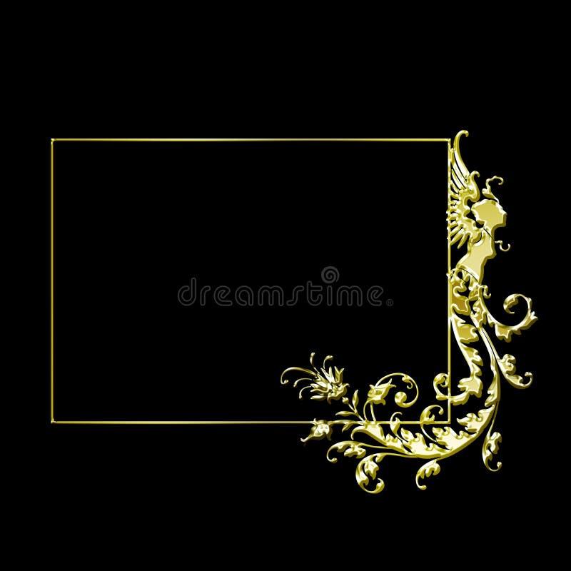 Fancy gold vector frame vector illustration