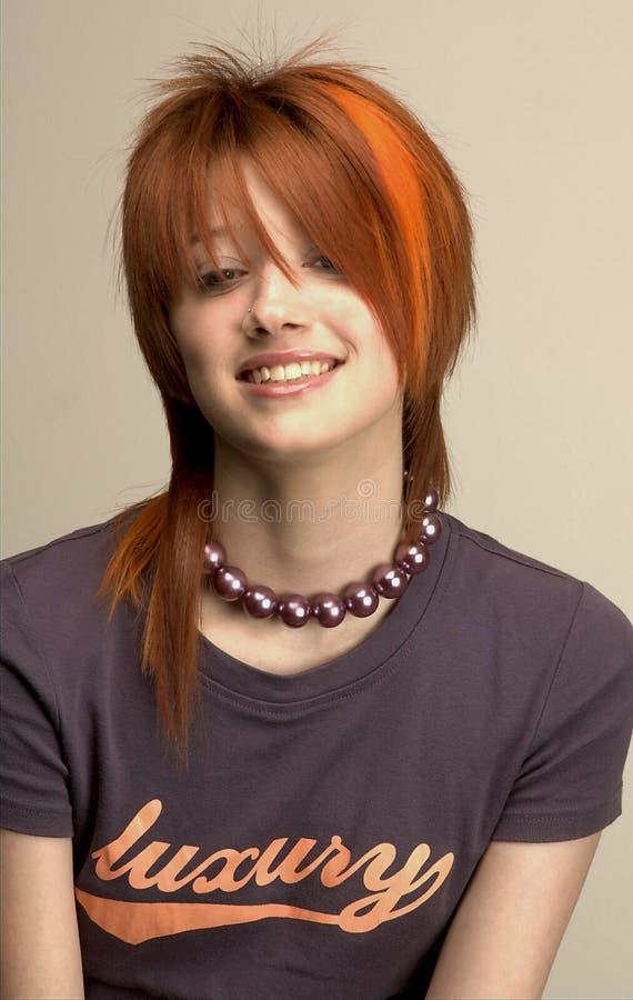 Fancy hair girl 1 royalty free stock image