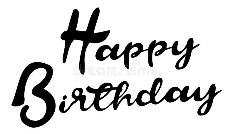 Fancy `Happy Birthday` Text - Vector Illustration stock illustration