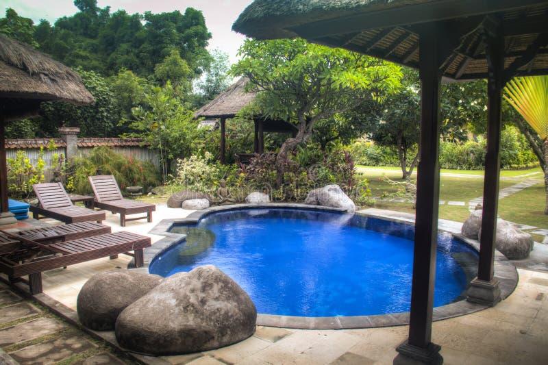 Fancy hotel room in Bali, Indonesia stock image