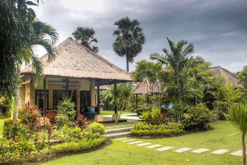 Fancy hotel room in Bali, Indonesia royalty free stock photo