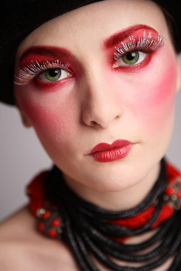 Fancy makeup stock image