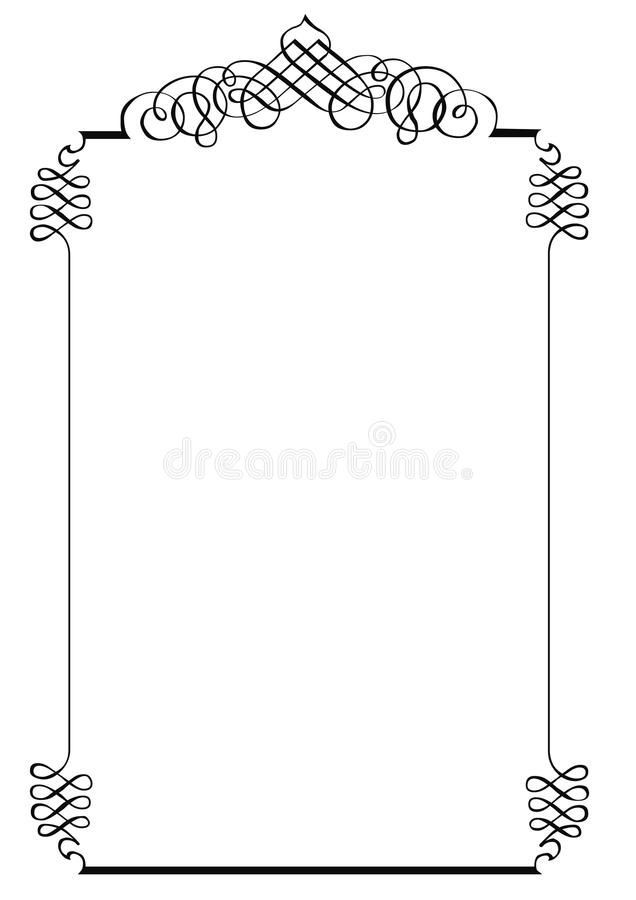 Fancy Page Border One. Fancy page border. Copyspace royalty free illustration