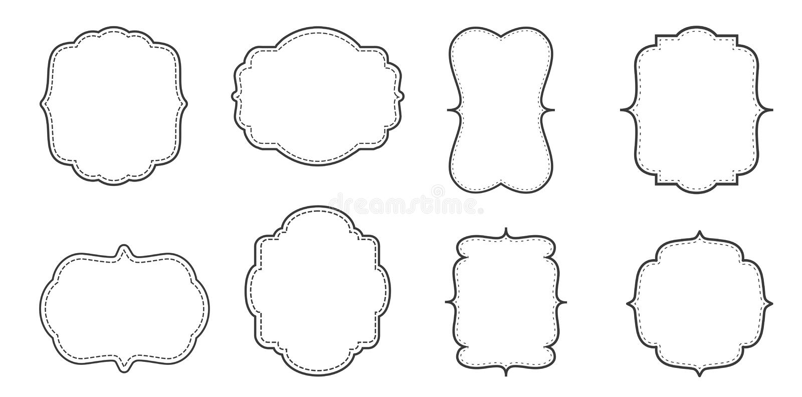 Fancy Page Border Set. Stock Vector. Illustration Of Page