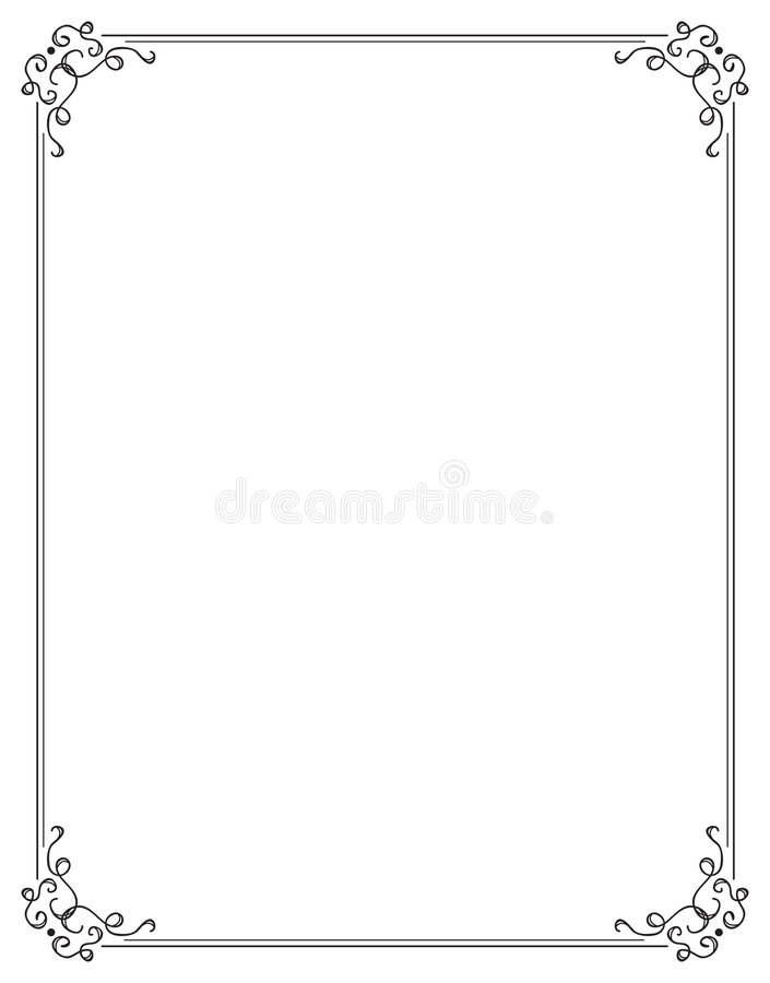 fancy page border two stock vector illustration of border 4243355 rh dreamstime com fancy corner border vector fancy border vector free