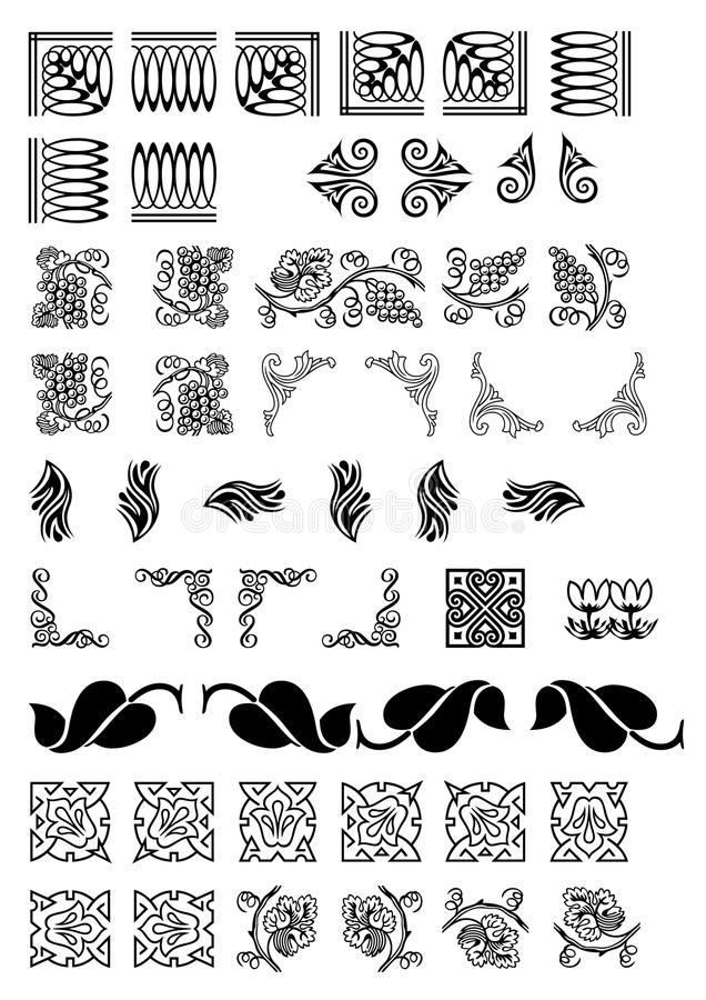 Art Deco Page borders and corners available as vector. Art deco borders and corners available as vector file. Copyspace stock illustration