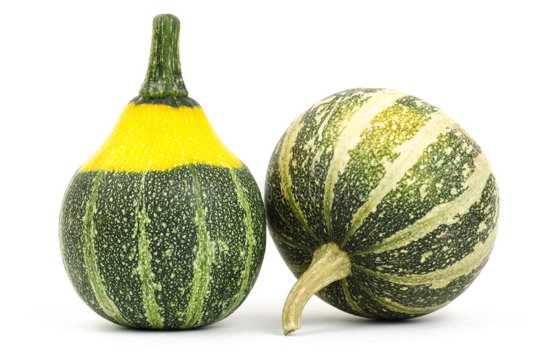 Fancy pumpkin. On white background royalty free stock photography
