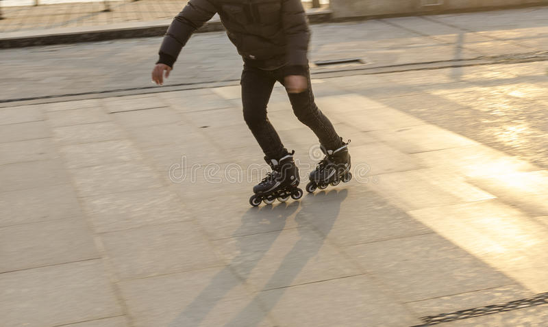 Of fancy Roller Skating stock photos