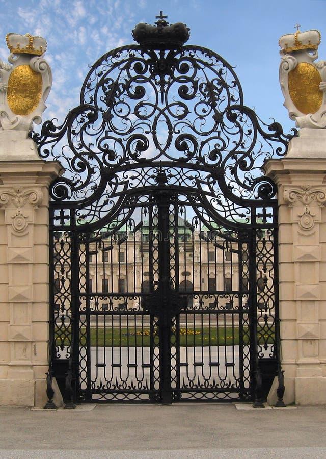 Fancy Royal Estate Gate royalty free stock photography