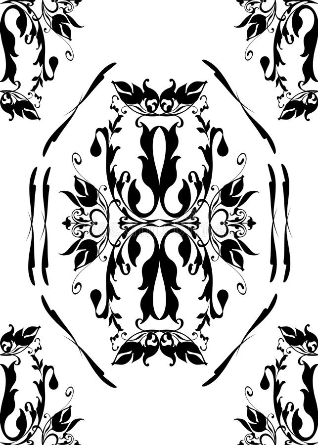 Fancy seamless antique design royalty free stock photography