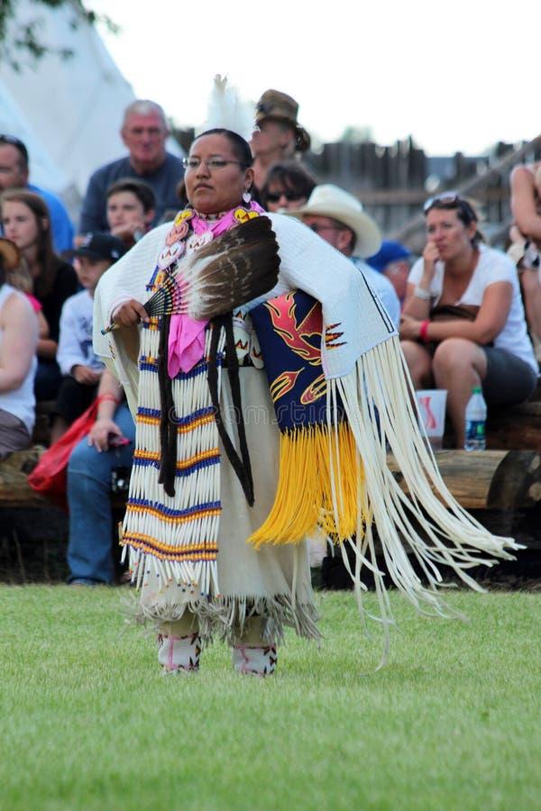 Fancy Shawl Dance - Powwow 2013 stock images