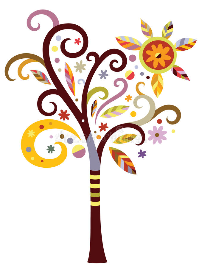 Download Fancy Tree stock vector. Illustration of whimsical, fall - 16182469