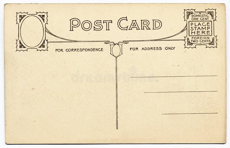 Fancy Vintage Postcard Stock Photography