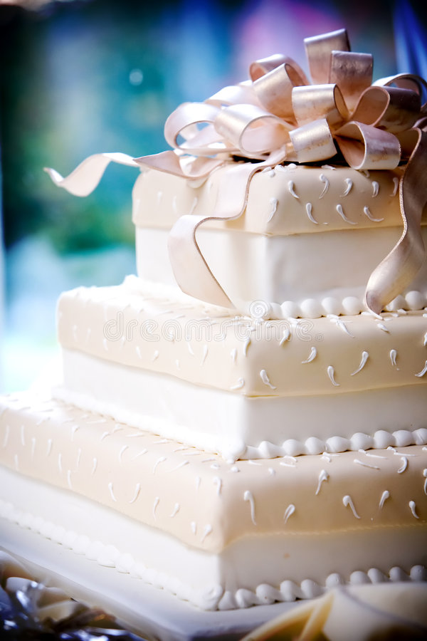Fancy wedding cake with cool details stock photo