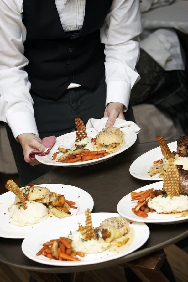 Fancy wedding food. Food during a wedding event stock photos