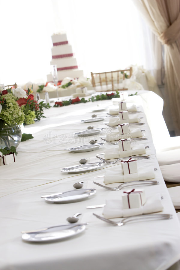 Fancy wedding table stock images