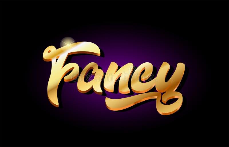 fancy 3d gold golden text metal logo icon design handwritten typ