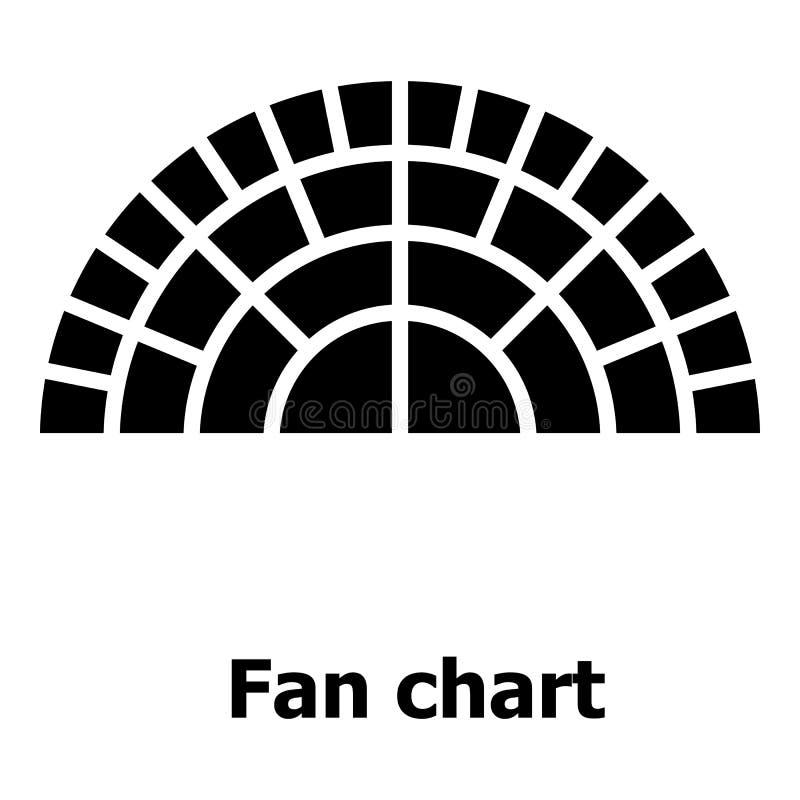 Fandiagrammikone, einfache Art stock abbildung