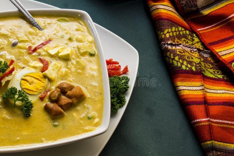 fanesca - традиционное блюдо Эквадорца пасхи стоковое фото rf