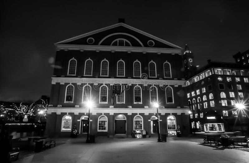 Faneuil霍尔,波士顿,麻省 免版税库存照片