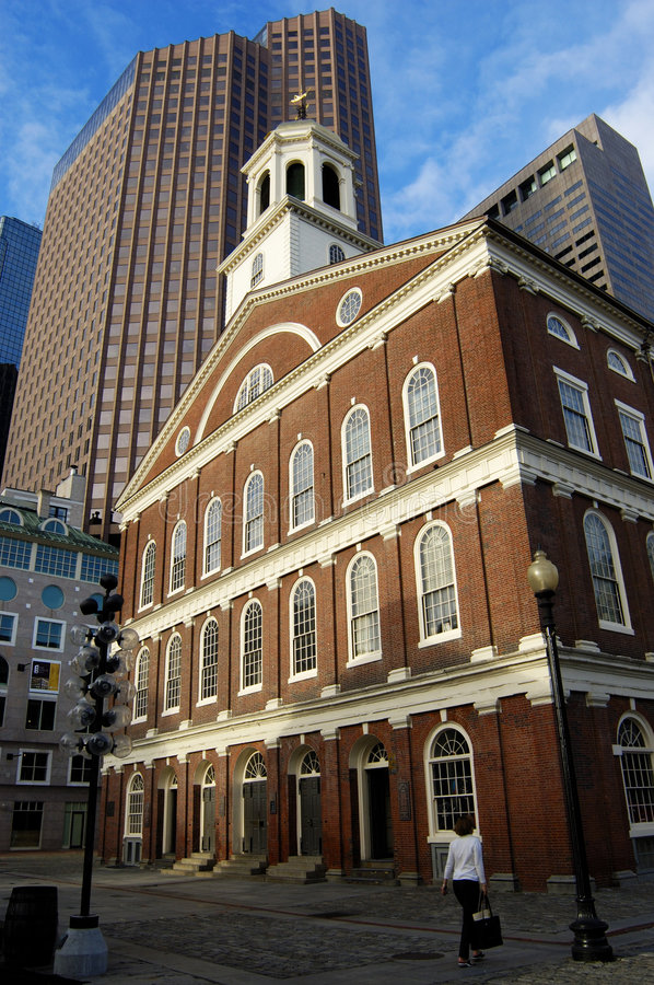 Faneuil Hall. Of Boston in the early morning light stock photo