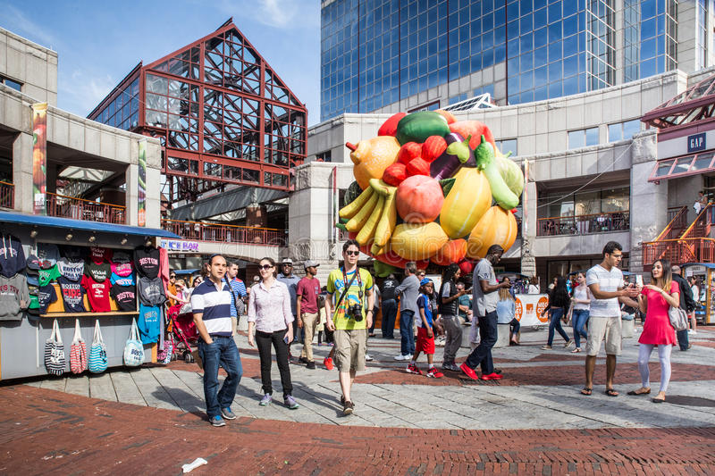 Faneuil Hall Quincy Market Boston royalty free stock photo