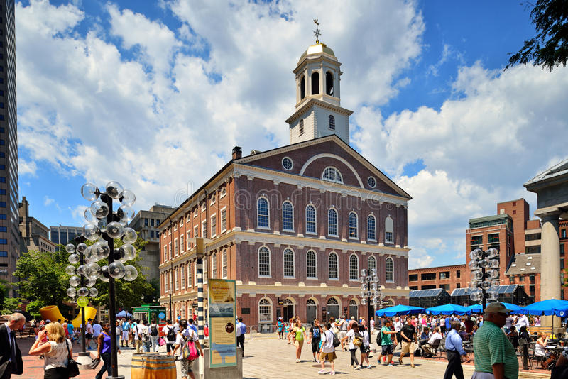 Faneuil Hall in the Summer royalty free stock image