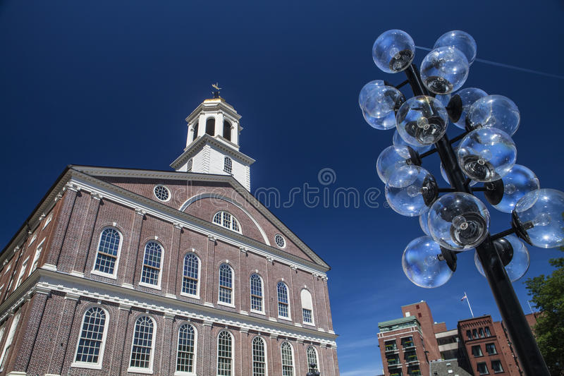 Faneuil Hall w Boston obraz royalty free