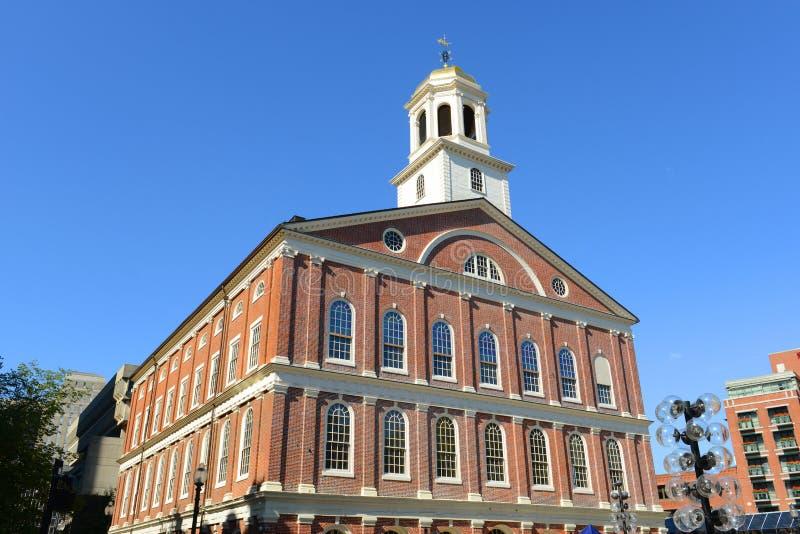 Faneuil Pasillo, Boston, los E.E.U.U. imágenes de archivo libres de regalías