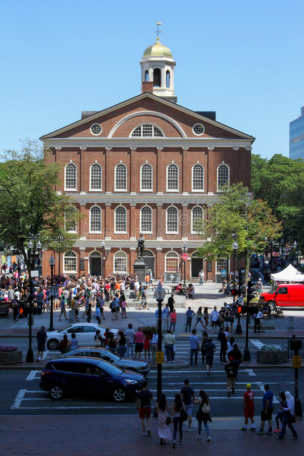 Faneuil Pasillo, Boston, mA foto de archivo libre de regalías