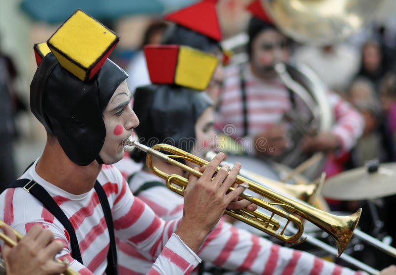 Fanfare. Sibiu city - center avenue - in middle Romania, Transylvania land is now host of International Festival of Theater May 25th - June 3rd 2012 royalty free stock image