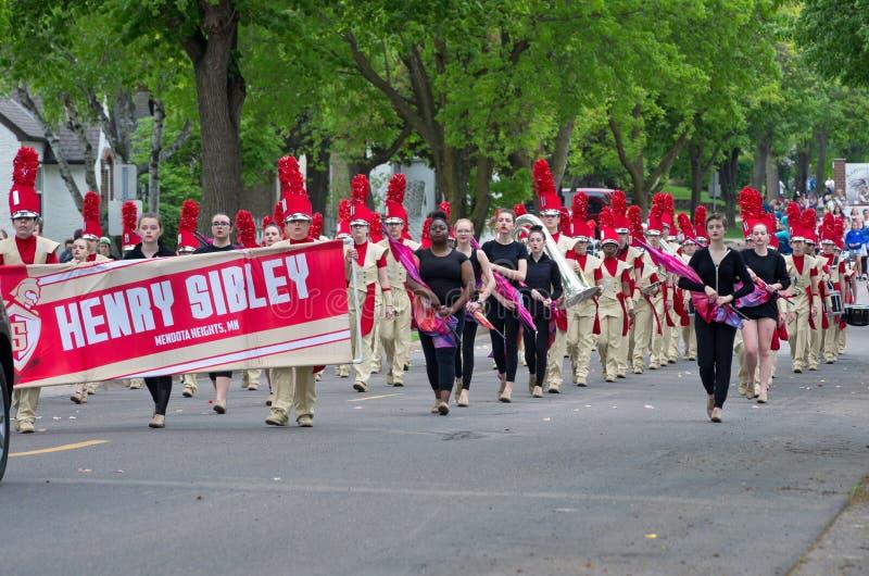 Fanfare de Sibley au festival local images libres de droits