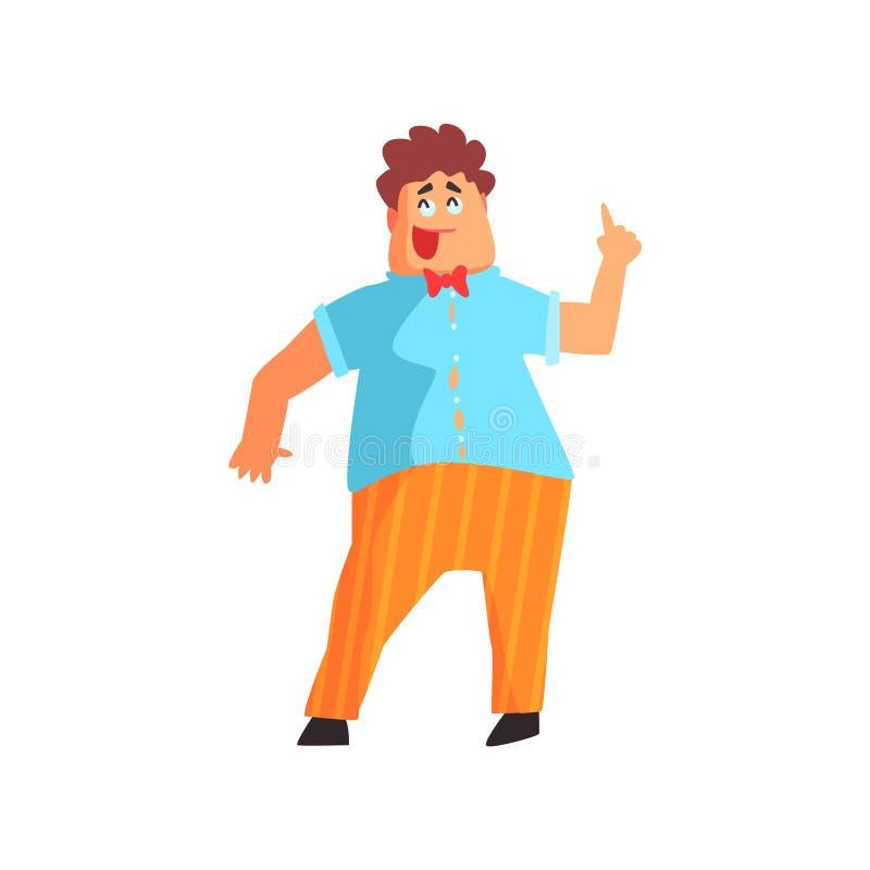 Fanfarrón rechoncho llamativo Guy Character stock de ilustración