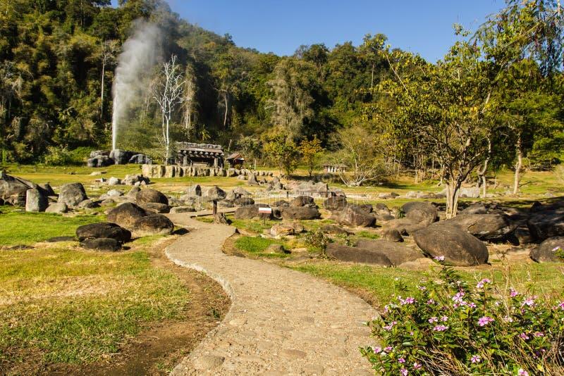 Fang Hot Springs (Mae Fang National Park) fotos de stock royalty free