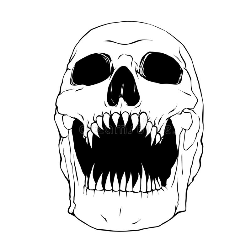 Fang Skull, Illustratievector royalty-vrije illustratie