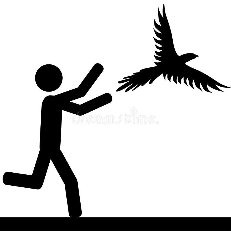 Fangen Sie den Vogel lizenzfreie abbildung