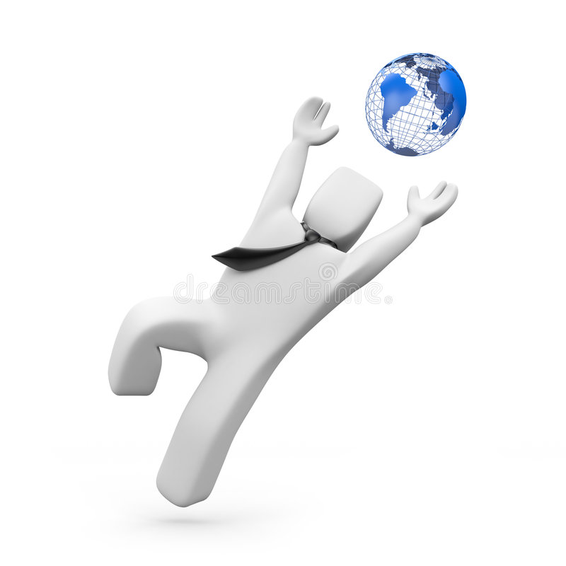 Fangen Sie die Welt ab lizenzfreie abbildung