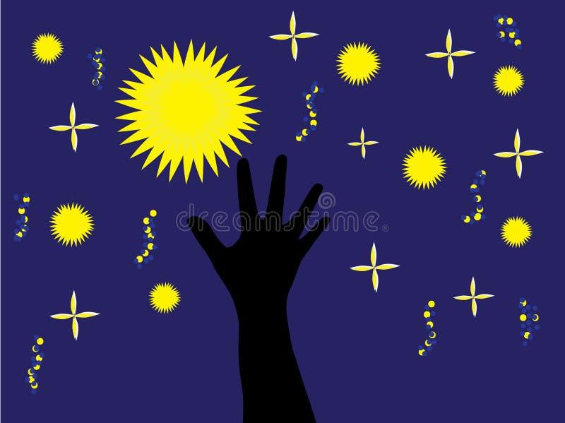 Fangen Sie einen Stern ab lizenzfreie abbildung