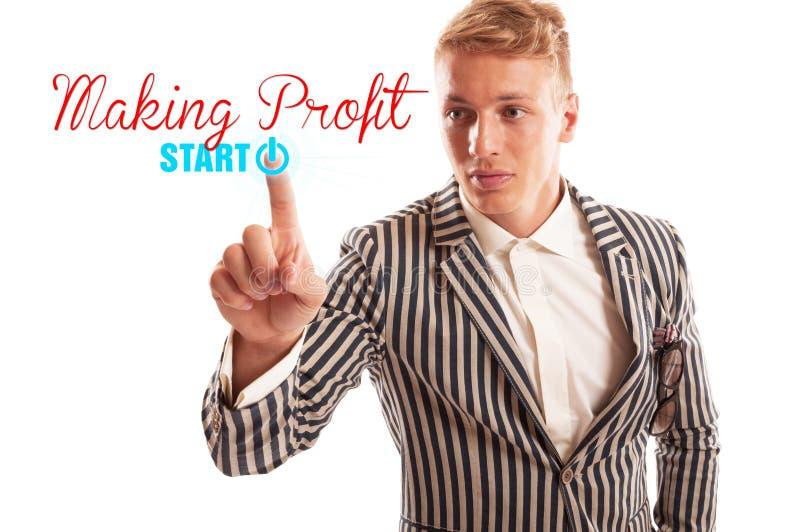 Fangen Sie an, Gewinnkonzept zu machen stockfotografie