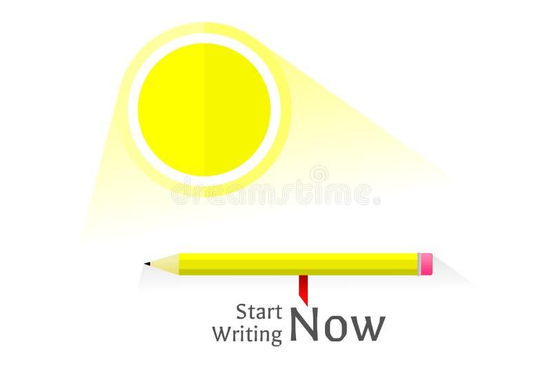 Fangen Sie an, jetzt zu schreiben stockfoto