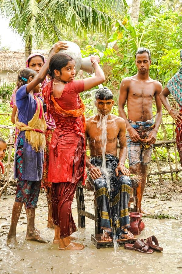 Fango en Bangladesh fotografía de archivo