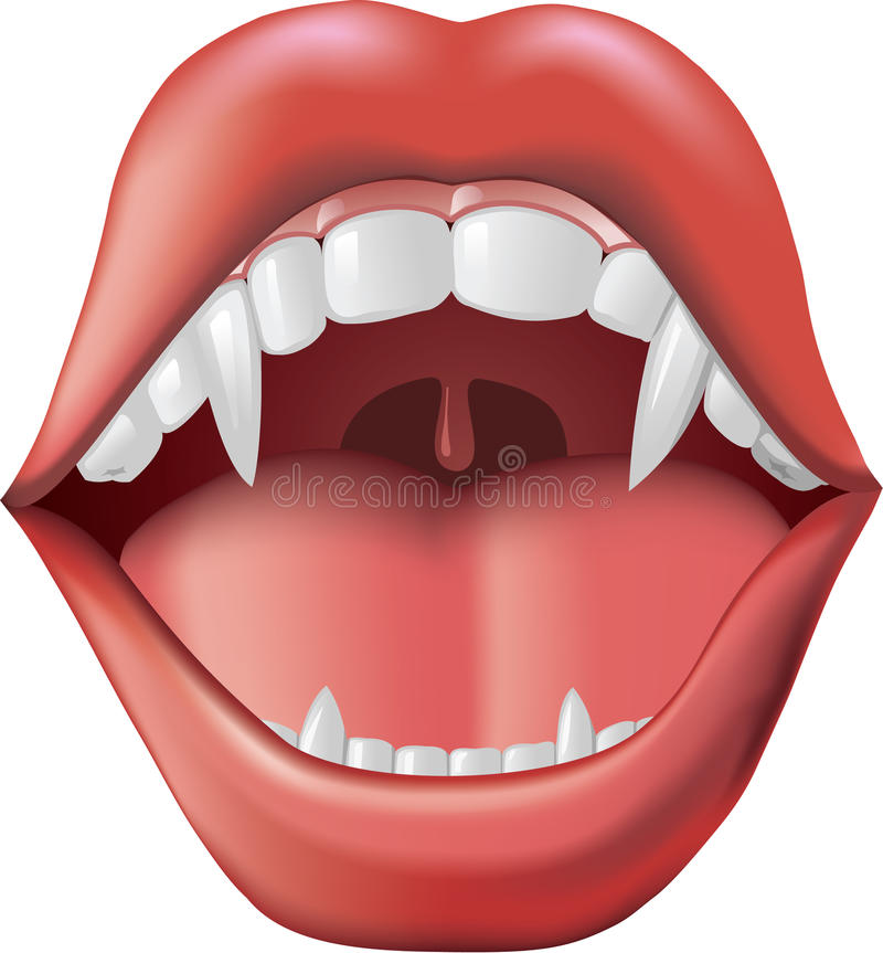 Download Fangs stock vector. Image of fang, tonsils, bite, uvula - 10532157