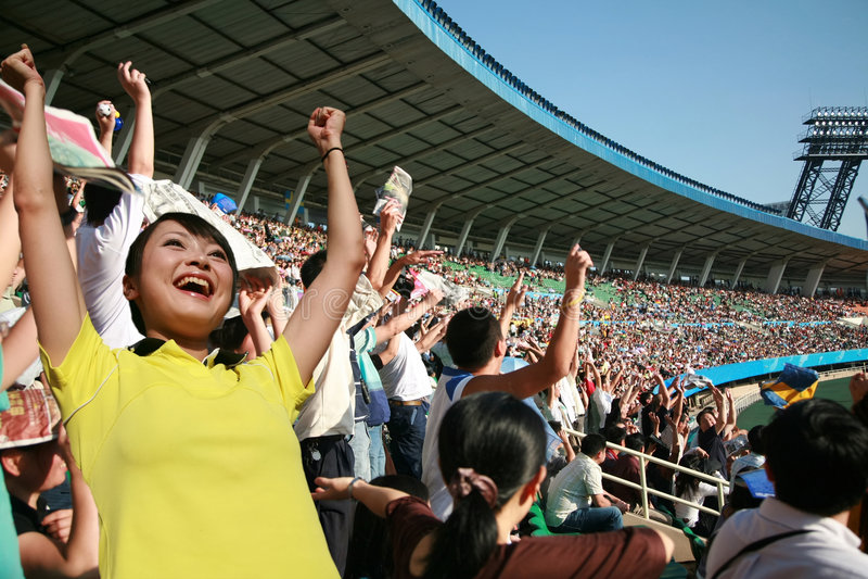 fani piłki nożnej zdjęcie stock