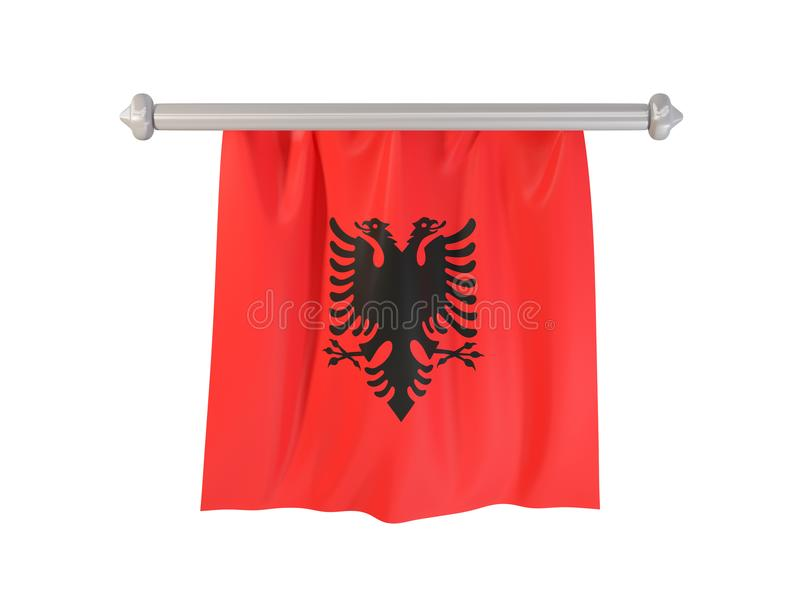 Fanion avec le drapeau de l'Albanie illustration de vecteur