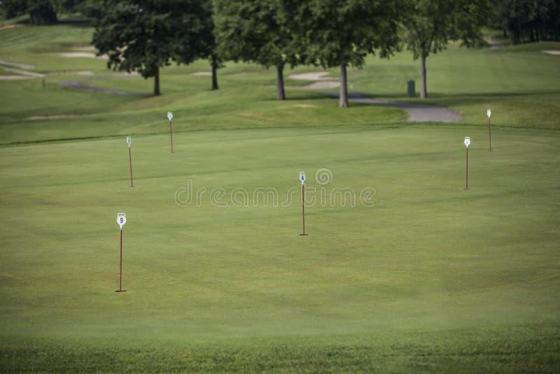 Fanions en trous de golf photos stock