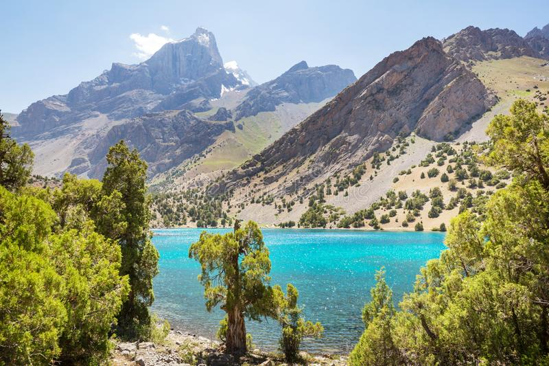Fann góry jeziorne fotografia stock