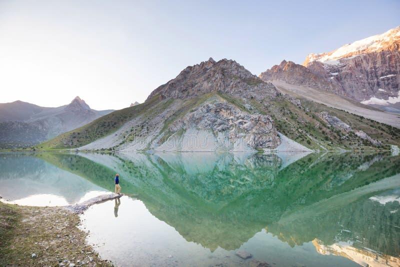 Fann góry jeziorne zdjęcie stock