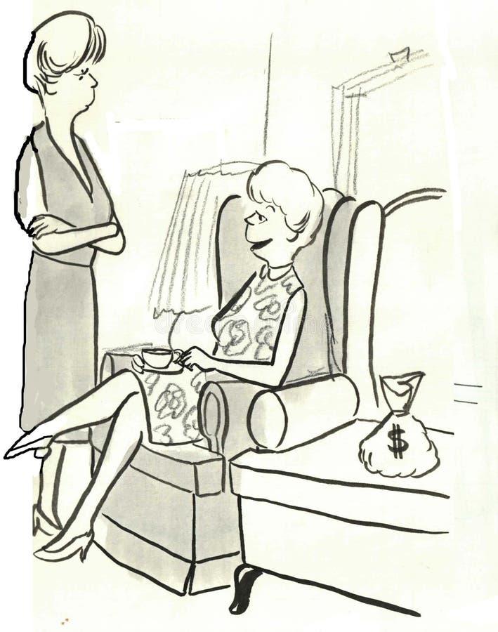Fann pengar stock illustrationer